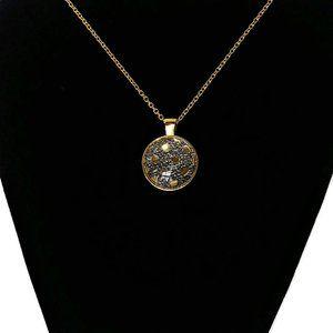 Necklace Pendant, Glass Dome Cabochon pendant